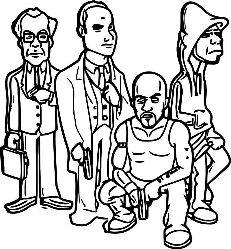 Computer Game Character Designs Cartoonized Coloring Page