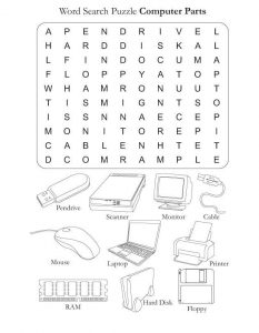 Computer word search puzzle