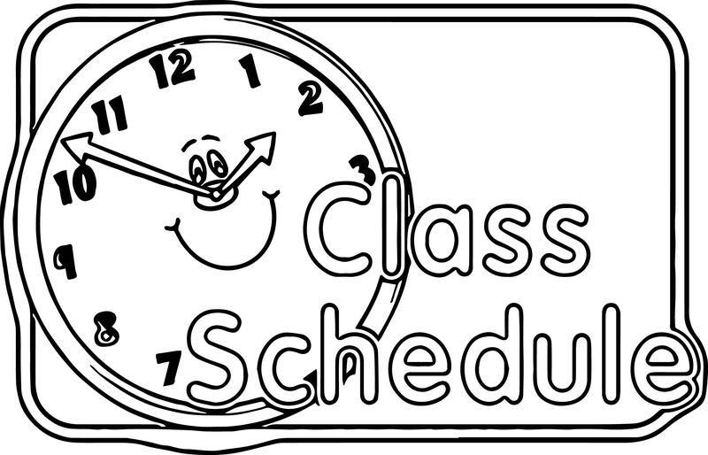 Content Center Sign Schedule 3rd Grade Coloring Page