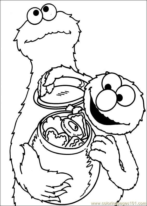 Cookies Sesame Street Coloring Pages