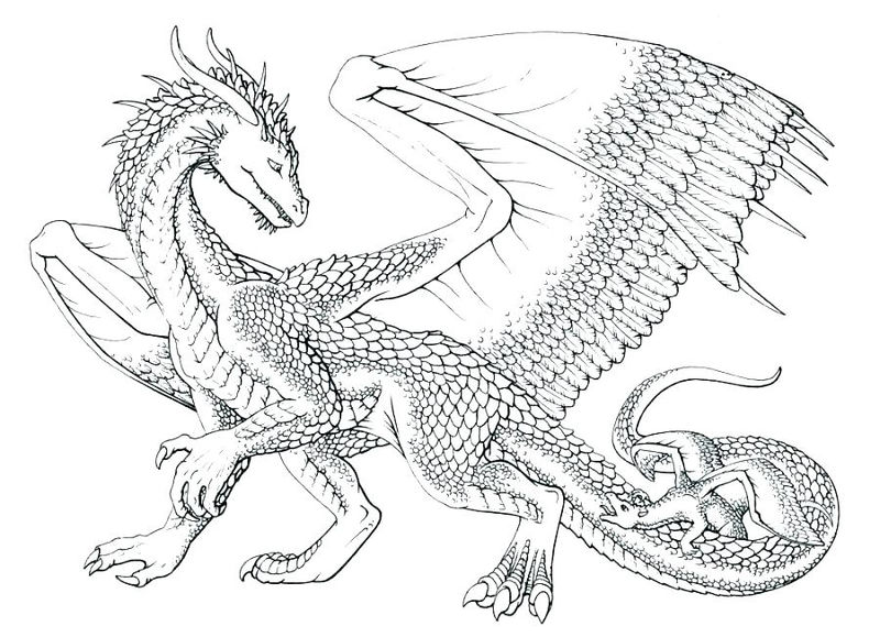 Cool Dragon Coloring Pages For Adults