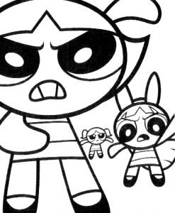 Cool powerpuff girls coloring pages