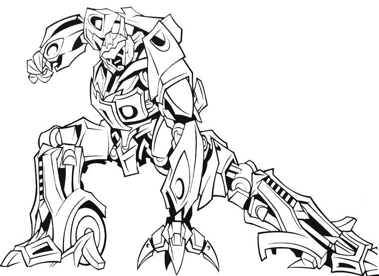 Cool Transformers Coloring Pages