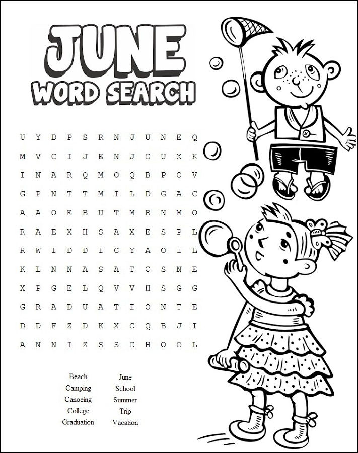 Cool Word Searches June