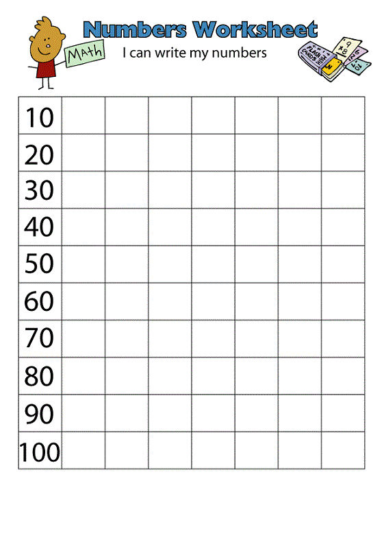 Count By 10s Worksheet Count