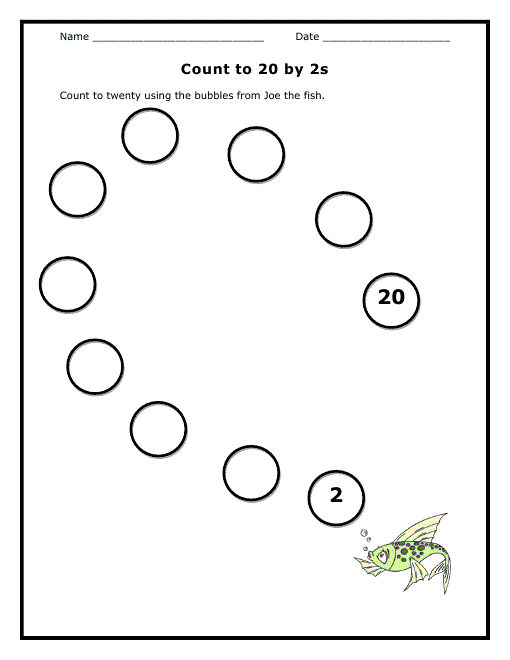Count By 2s Worksheet Skip 001