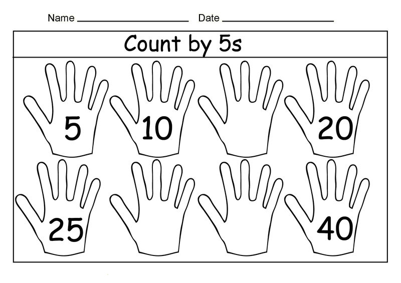 Count By 5 Worksheet Interesting