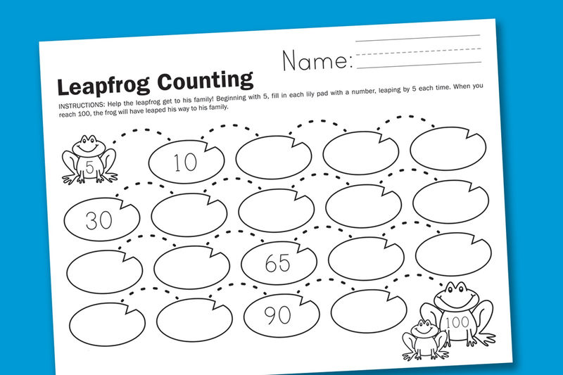 Count By 5s Worksheet Blue