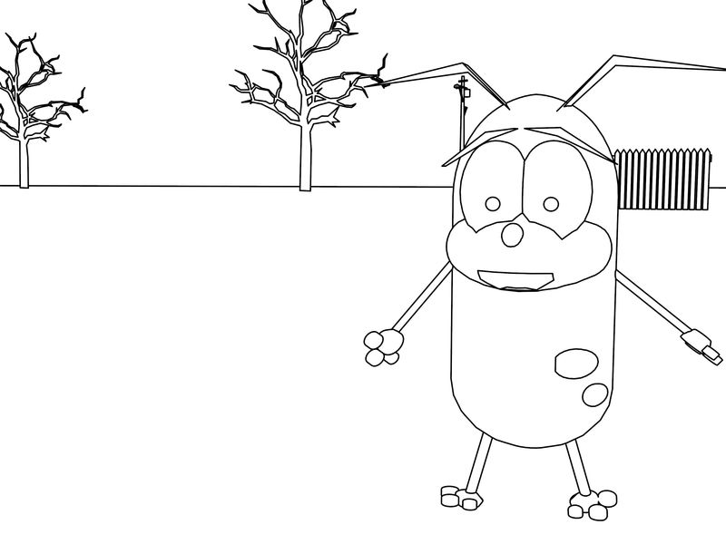 Courage The Cowardly Dog Cartoon Coloring Pages