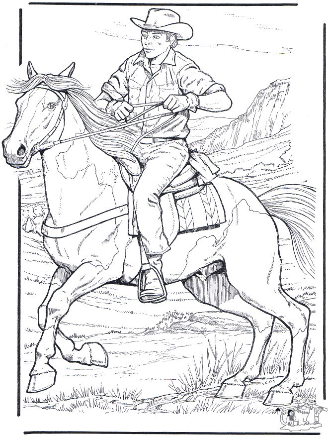 Cowboy Coloring Pages For Kids Coloring Sheets