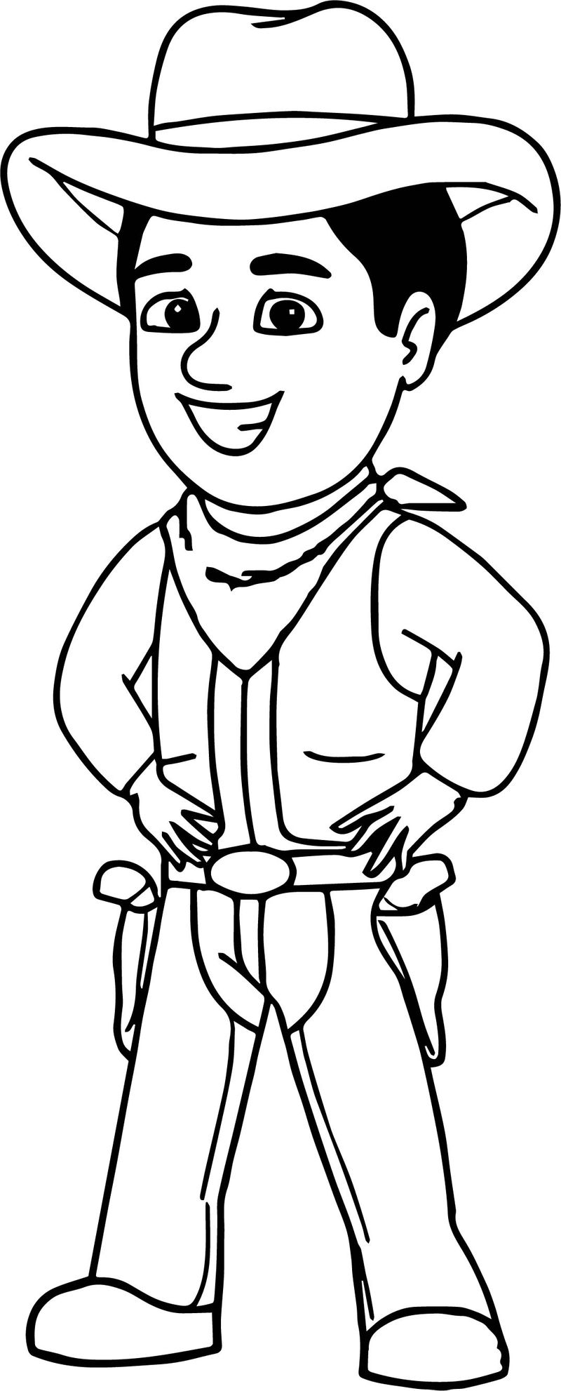 Cowboy Pictures Graphics Coloring Page