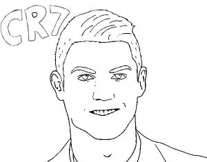 Cr 7 ronaldo face drawing sketch page