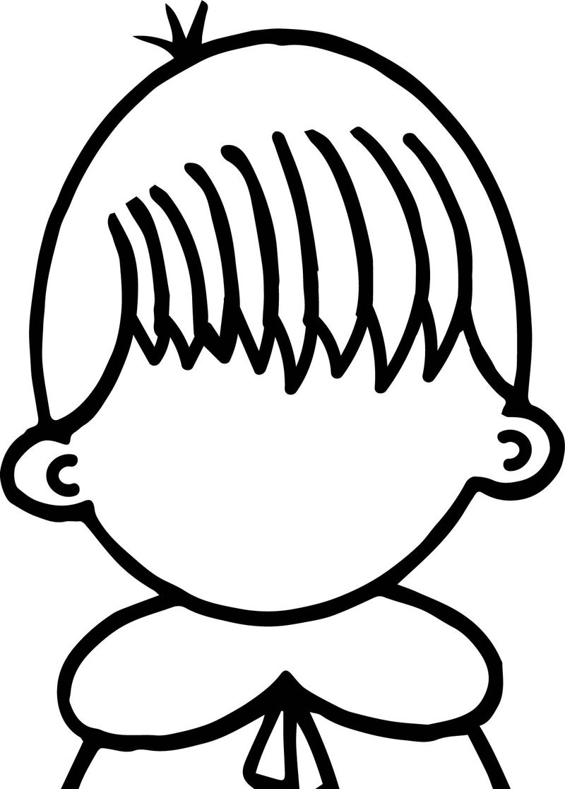 Create Our Face Children Coloring Page
