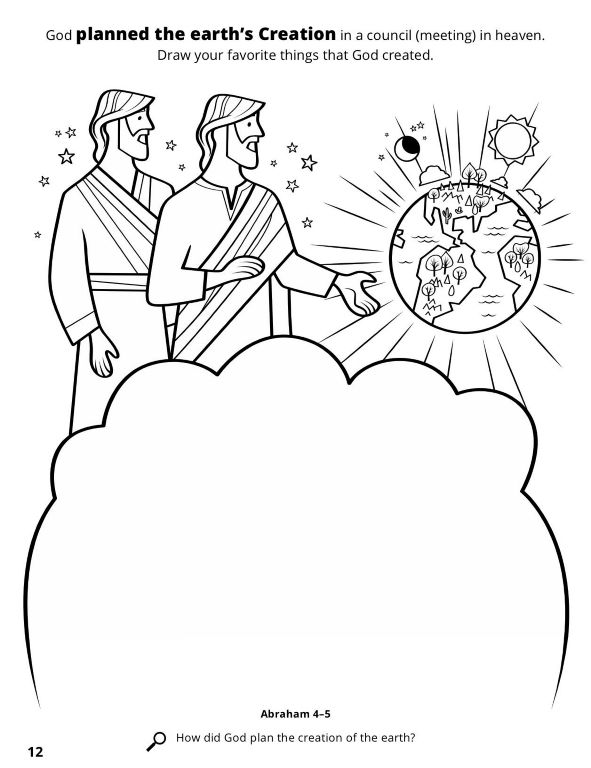 Creation Worksheet Bible Coloring Pages