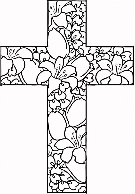 Cross Easter Coloring Pages