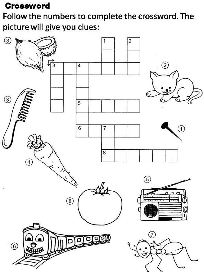 Cross Word Puzzles For Kids Free