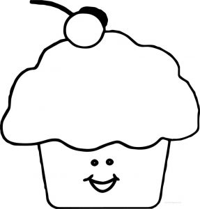 Cupcake smile images coloring page