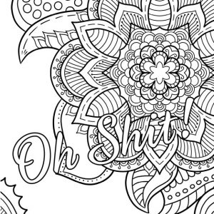 Curse word coloring pages for adults