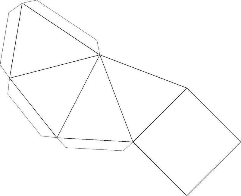 Cut Out 3d Geometric Shapes Pyramid 001