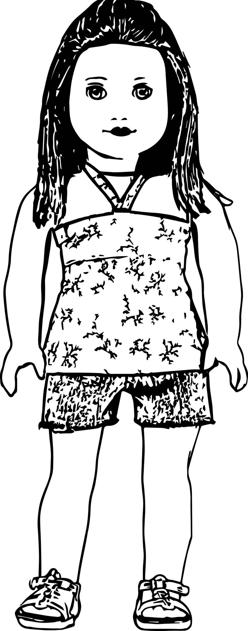 Cute Ag American Girl Doll Coloring Pages