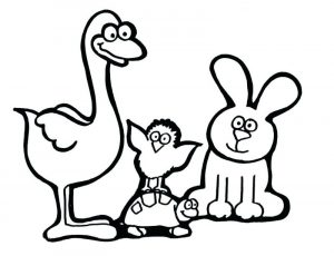 Cute animal coloring pages 001