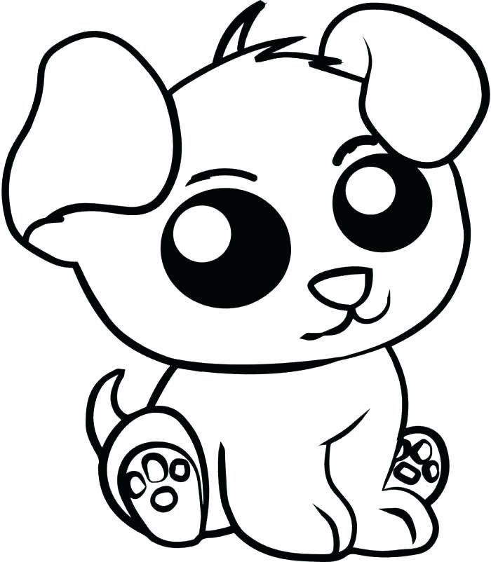 Cute Animal Coloring Pages Puppy