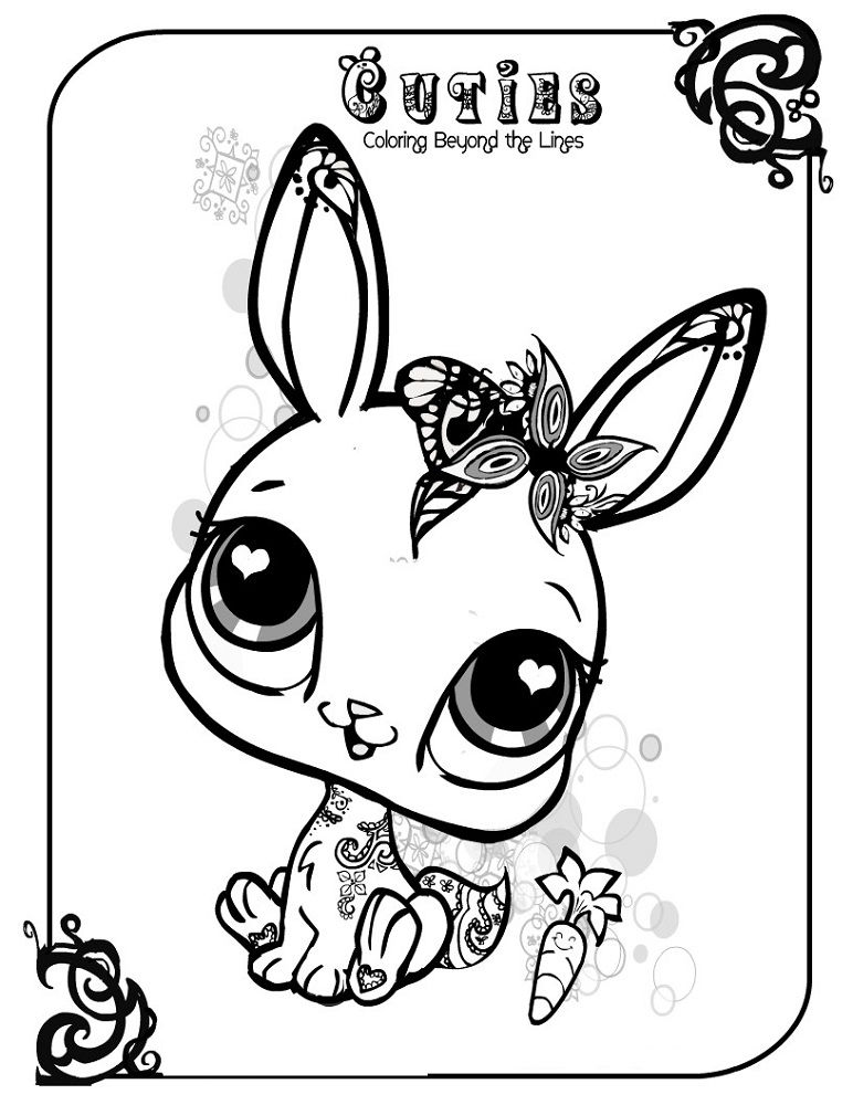 Cute Baby Animal Coloring Pages Printer