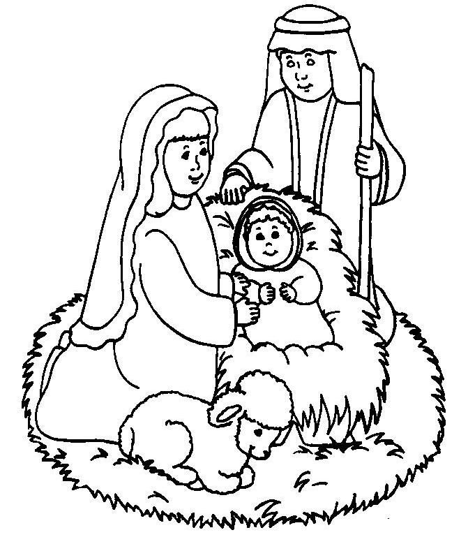 Cute Baby Jesus Coloring Pages 001