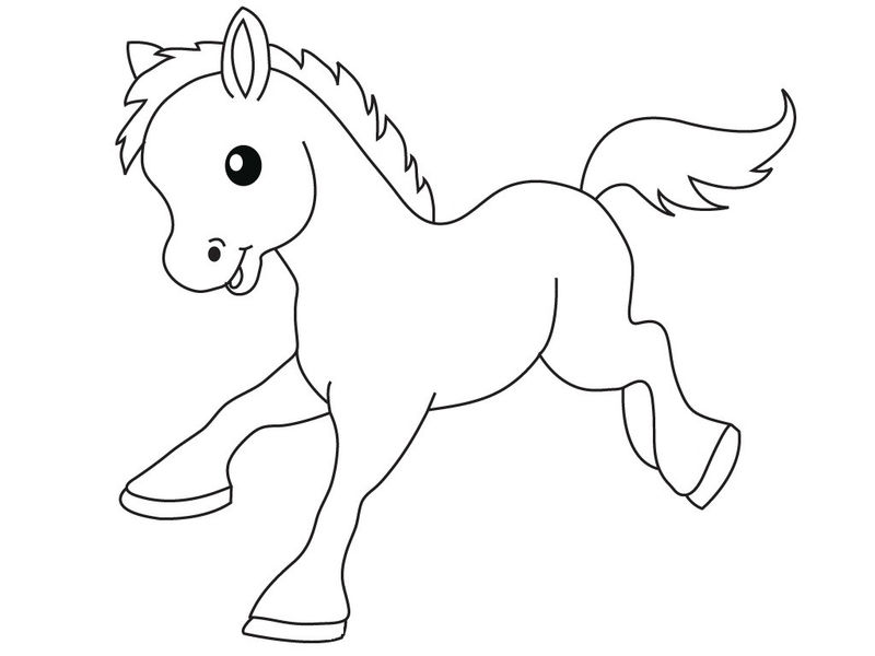 Cute Baby Pony Coloring Page