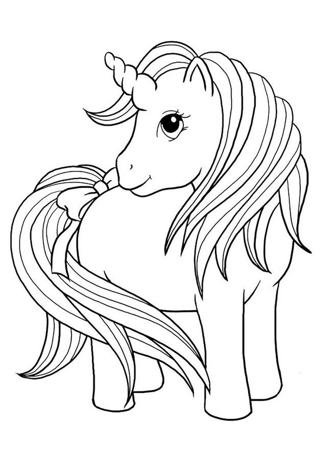 Cute Baby Unicorn Coloring Page - Coloring Sheets