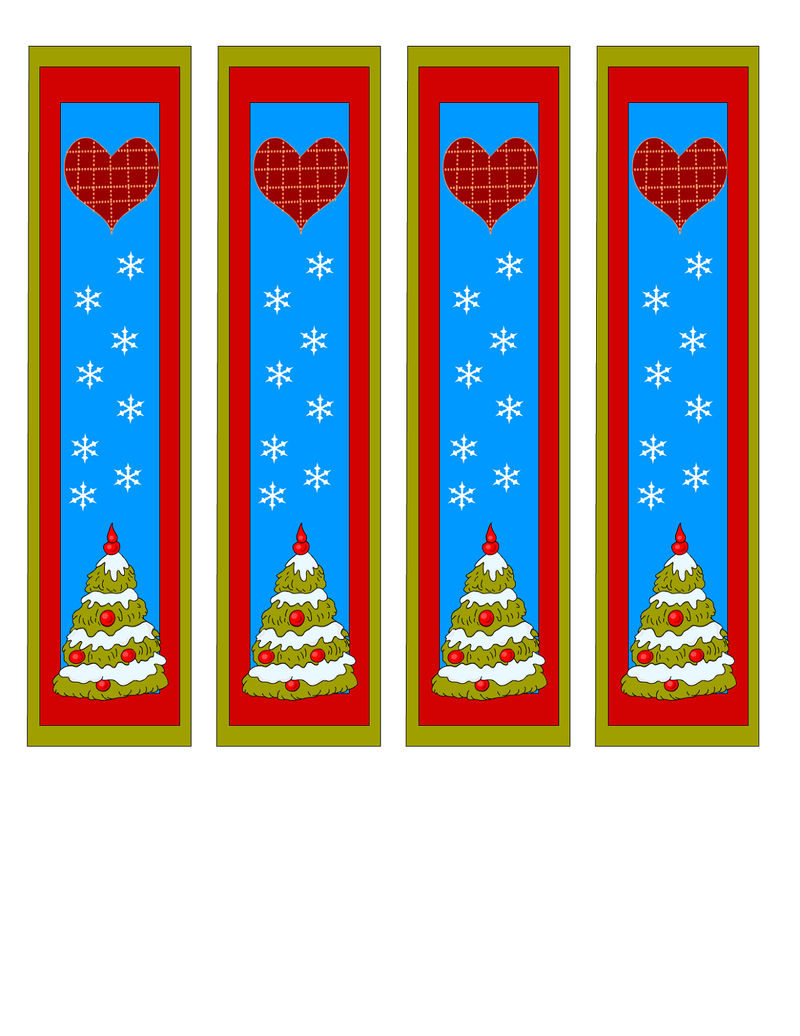 Cute Bookmarks With Christmas Tree