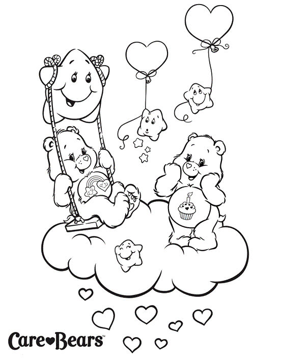 Cute Care Bears Coloring And Activity Page Coloring Sheets