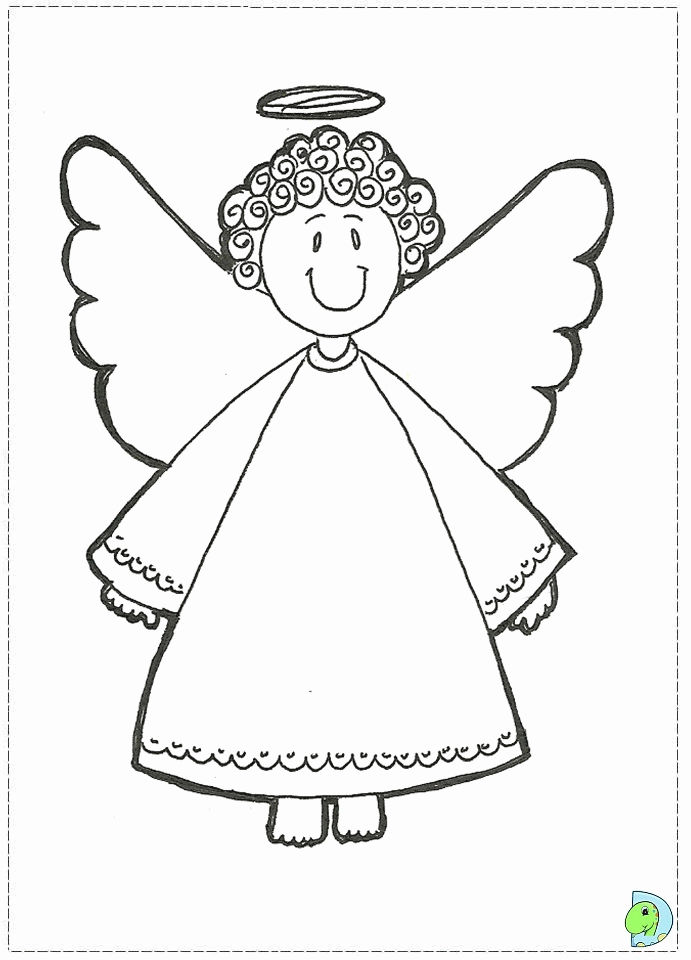 Cute Christmas Angel Coloring Pages For Preschoolers