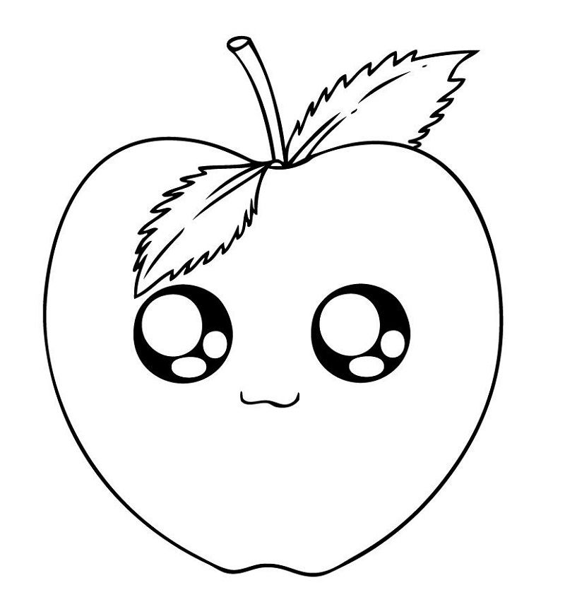 Cute Coloring Pages Of Fruit