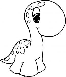 Cute dinosaurs go coloring page