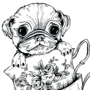 Cute dog coloring pages for adults