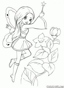 Cute fairy cartoon coloring pages