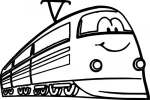 Cute fastest train coloring page