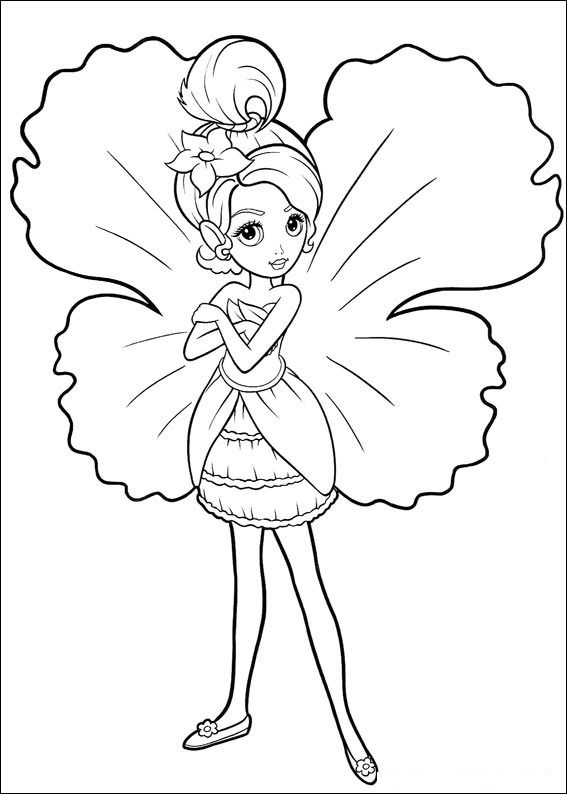 Cute Flower Fairy Coloring Page Free