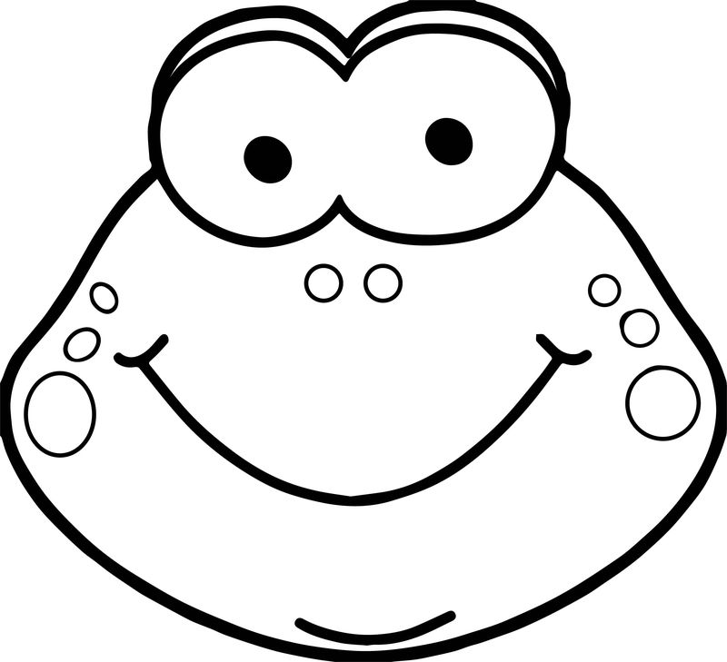 cute frog head coloring page  coloring sheets