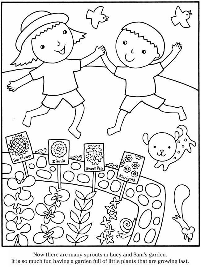 Cute Gardening Coloring Pages 001
