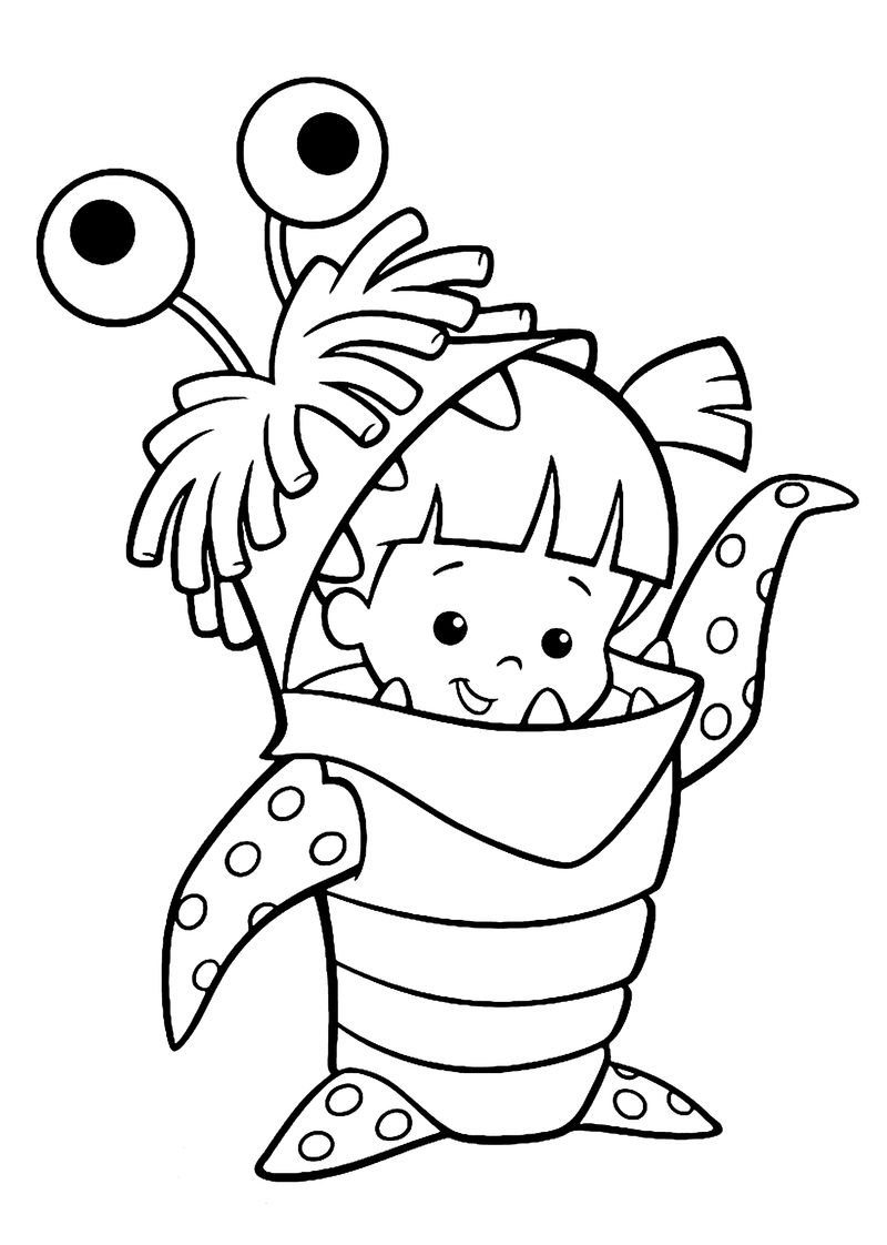 Cute Monsters Costume Coloring Page