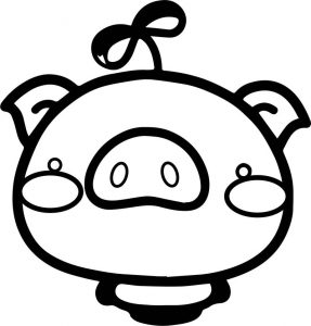 Cute pig cartoon coloring page