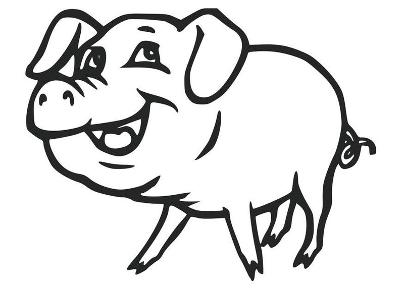 Cute Pig Coloring Pages