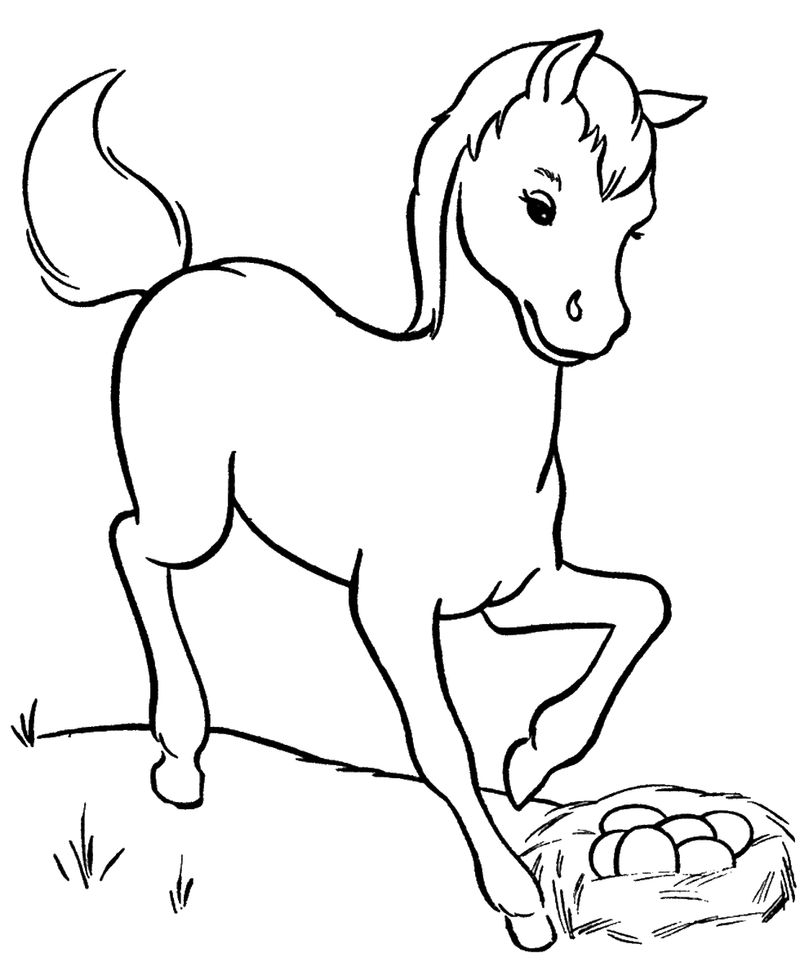Cute Pony Coloring Page Printable