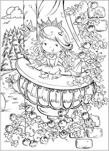 Cute princess coloring page printable