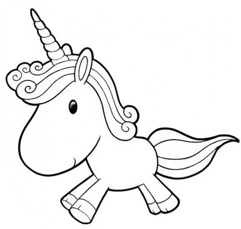 Cute Unicorn Cartoon Coloring Pages