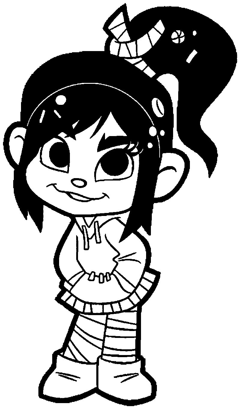 Cute Wreck It Girl Coloring Page
