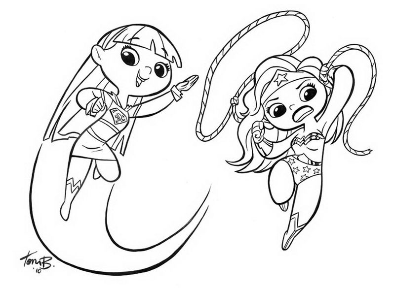 Cuter Supergirl Coloring Pages 001