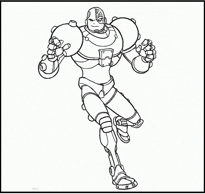 Cyborg Coloring And Activity Page